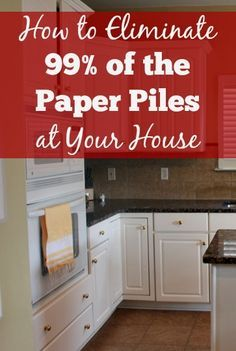 How to Eliminate of the Paper Piles at your House! Struggling with paper piles at your house? This post shares the keys to eliminate paper piles. It's not as hard as it may seem.