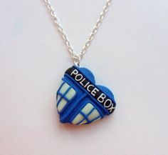 Tardis heart necklace - glow in the dark - don't look into the heart of the tardis. no one was every ment to do that.