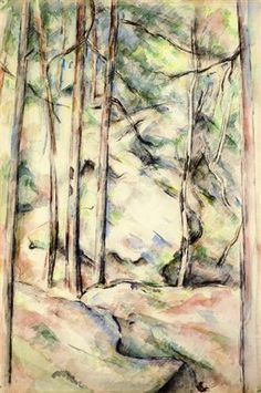 In+the+Woods+-+Paul+Cézanne