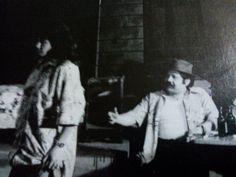 """""""La Chunga"""" de Vargas Llosa presentada en el Mesón del Gallo. Interpreté al """"Josefino"""". En la foto con Alicia Laguna."""