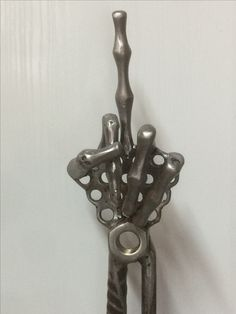 Hand sculpture I made yesterday with nuts and bolts