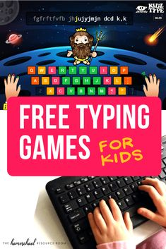 Free typing games for kids Learning Games For Kids, Learning Websites, Learning Activities, Teaching Kids, Activities For Kids, Free Game For Kids, Free Stuff For Kids, Writing Games For Kids, Outside Games For Kids