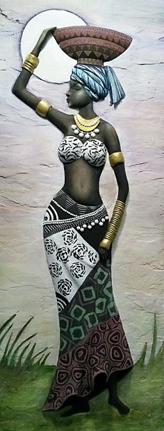 Black Girl Art, Black Women Art, Black Art, Art Girl, African Beauty, African Women, African Fashion, Ankara Fashion, African Style