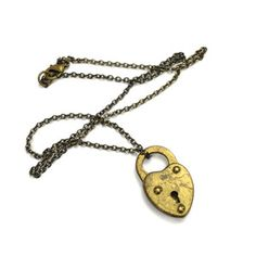 Heart Padlock Necklace, $64, now featured on Fab.