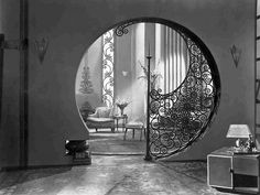 Interior from Fox's Pleasure Crazed, 1929 Art Deco  - Vintage Hollywood Glam!