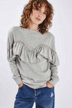 Jersey Ruffle Sweatshirt - Romantic Ruffles - We Love - Topshop USA