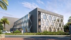 The Waves on Behance Office Building Architecture, Building Facade, Facade Architecture, Building Design, Facade Design, Exterior Design, Mall Facade, Commercial Complex, Building Elevation
