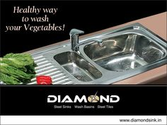 Diamond Kitchen Sinks are easy to maintain and clean. Explore the complete range @ www.diamondsink.in #SteelSink #SteelKitchenSink #Sink #Kitchen #StylishSinks #DiamondSink