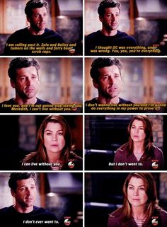 Even great couples lose their way Greys Anatomy Episodes, Greys Anatomy Funny, Grey Anatomy Quotes, Dr Shows, Meredith And Derek, Cant Live Without You, Grey Quotes, Dark And Twisty, Grey Stuff