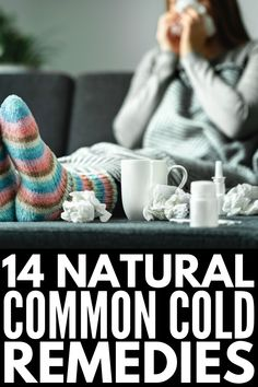 14 Natural Common Cold Remedies That Work   If you want to know how to get rid of a cold and all the symptoms that come with it fast, like a runny nose, sore throat, cough, chest congestion, headache, and fatigue, we're sharing 14 natural cures to help you feel better sooner! These DIY remedies will boost your immune system, giving you quick relief that lasts, and most of these can be used with babies and kids! Sore Throat Remedies, Home Remedy For Cough, Natural Sleep Remedies, Natural Cough Remedies, Cold Home Remedies, Natural Cures, Sore Throat And Cough, Chest Congestion, Stress
