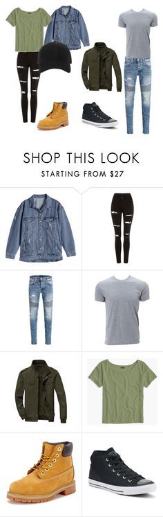 """""""fgfgf"""" by alessiabazzurro on Polyvore featuring Topshop, Simplex Apparel, J.Crew, Timberland, Converse and rag & bone"""