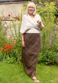 Allegro Shawl by Purl Alpaca Designs - knitted and modeled by Jeanne Rayment