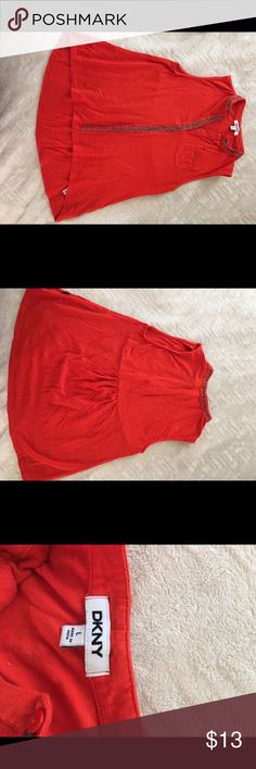 DKNY orange/red top Children's Large, I'm an XS and it fit good DKNY Tops Tank Tops