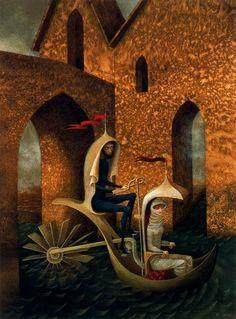 A website dedicated to the surrealist painter REMEDIOS VARO. on Remedios Varo. Psychedelic Art, Illustration Art, Illustrations, Magic Realism, Salvador Dali, Surreal Art, Graphic, Dark Art, Les Oeuvres