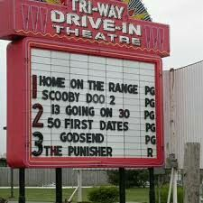 The Tri-Way Drive-in Theatre north of Plymouth, Indiana. Plymouth Indiana, 50 First Dates, 13 Going On 30, Drive In Movie Theater, Outdoor Theater, Home On The Range, South Bend, Good Times, Dating