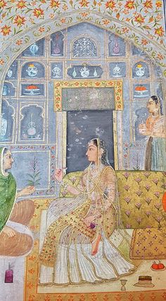 A Mughal Princess & her attendants Delhi, c1750 The Small Clive Album Now in the V&A