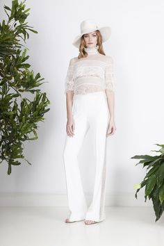 We have seen a huge boost in bridal jumpsuit and pantsuit options. These modern, trendy menswear inspired styles are sweeping the bridal scene by storm. Bridal Pants, Wedding Pants, Wedding Jumpsuit, Lace Jumpsuit, Divine Atelier, Metallic Jumpsuits, Tomboys, Lace Tops, Boyfriends