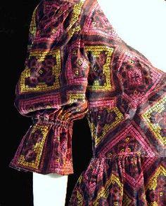 Colin Glascoe early 1970s Medieval Velvet Maxi Dress