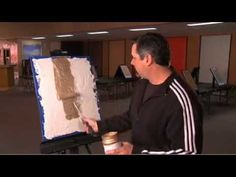 December Moon Acrylic Heavy textured painting Demonstration by Millie Gift Smith - YouTube