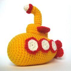 Yellow submarine crochet?! Want the pattern!