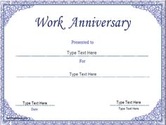 Business Certificate - Work Anniversary Certificate Template |  CertificateStreet.com