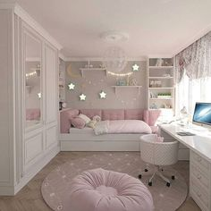 15 Cute Bedroom Ideas for Girls - Cool Bedroom Design Pink Bedroom Decor, Bedroom Decor For Couples, Cute Bedroom Ideas, Pink Bedrooms, Cute Room Decor, Girl Bedroom Designs, Bedroom Themes, Teen Bedrooms, Baby Decor