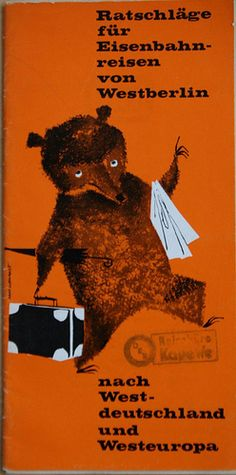 Travel Bear - This is a brochure of the German Railways from 1960