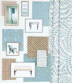 Blue/ green  mood board