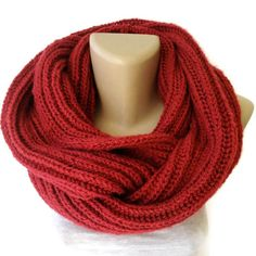 Valentines Day Gift ,infinity scarf , women, men scarf, winter accessories, knitted scarves, holiday gifts, clothing on Etsy, $35.00