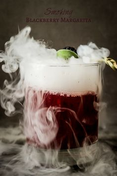 Smoking Blackberry Sage Margarita - The perfect Halloween cocktail! | wickedspatula.com