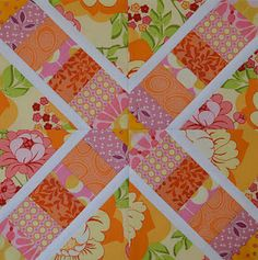Love this scrappy block.  Original tutorial can be found here:  http://quiltville.blogspot.com/2005/06/string-x.html