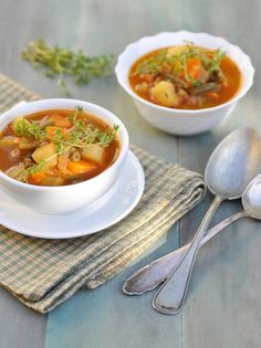 Recipe For Herbed Vegetable Soup - In a large saucepan, combine the cabbage, beans, celery, carrots, zucchini, onion and tomato juice; bring to a boil. Reduce heat; cover and cook for 15 minutes or until vegetables are tender. Add the bouillon, seasoning blend, basil and
