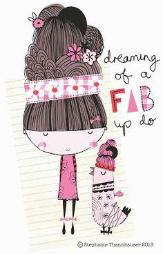cute illustration, type