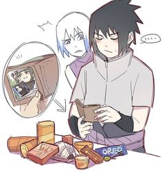 I'm pretty sure Sasuke is just buying this stuff for Suigetsu since he doesn't like sweets