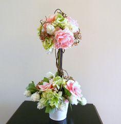 Florist made topiary with hydrangea, centerpiece, wedding centerpiece, garden floral arrangement, spring arrangement, pink arrangement