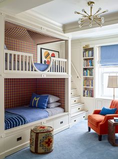Awesome Charming Buffalo Check Wallpaper Bunk Beds For Kids   Katie Ridder Cool  Bunk Beds, Bunk