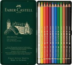Faber Castell Polychromos Colour Pencils Tin Of 12 Faber Castell, Artist Pencils, Polychromos, Metal Tins, Amazon Art, Sewing Stores, Colored Pencils, Artsy, Art Supplies