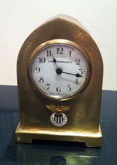 brass travelling clock with Ferencvarosi FC (HUNGARY) green and white enamel crest from the art deco era football memorabilia Football Memorabilia, Art Deco Era, White Enamel, Hungary, Travelling, Clock, Brass, Green, Watch