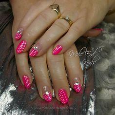 Gel polish over natural nails. i69 with striping and dots  @i.n.k_london #stripingnails #dottynails #barbienails #ilac #i69 #inklondon @scratchmagazine #gelpolish #nails #nailsoftheday #nailart #showscratch #scratchmagazine #notd #nailsofinsta #naildesign #naildesigns #shaftesburynails #dorsetnails #gillinghamnails #moleenddesign