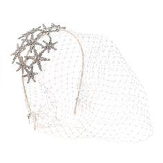 jcrew rhinestone star bird cage veil