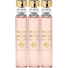 Acqua Di Parma Rosa Nobile Eau De Parfum Leather Purse Spray Refills 3... ($84) ❤ liked on Polyvore featuring beauty products, fragrance, acqua di parma, edp perfume, purse spray perfume, eau de parfum perfume and eau de perfume
