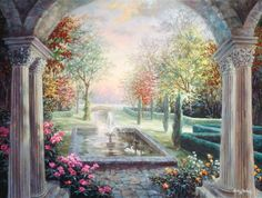 Mediterranean Tranquility Mural - Nicky Boehme| Murals Your Way