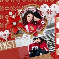 #scrapbooking layout Christmas Enagement themed by Amanda Fraijo-Tobin using Krafty Christmas Collection | ScrapGirls.com