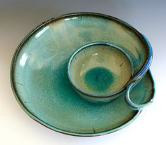 Chip and Dip handmade ceramic dish ceramics and by ocpottery, $85.00