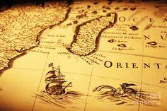 old-map-sea-monster-sailing-ship-equator-africa-colin-and-linda ...