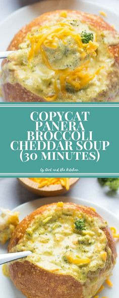 Copycat Panera Broccoli Cheddar Soup...30 Minutes - Girl and the Kitchen