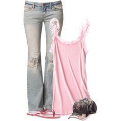 """Jeans and Tank"" by cindycook10 on Polyvore"