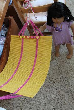 American Girl Doll Play: Doll Craft - Make Your Doll a Hammock