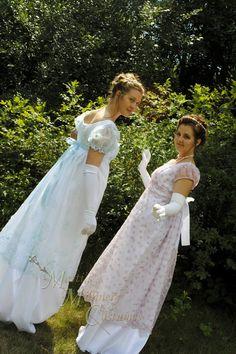 Pink White Regency Jane Austen Ball gown Empire by MattiOnline, $170.00