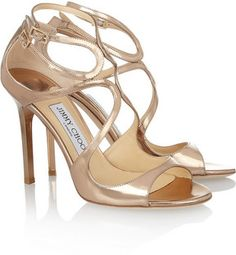 Jimmy Choo Lang mirrored leather sandals on shopstyle.com